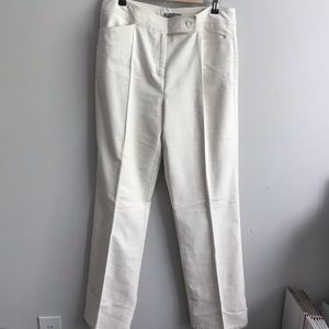 Kate Hill Cotton Beige Trouser Pants-Size 12